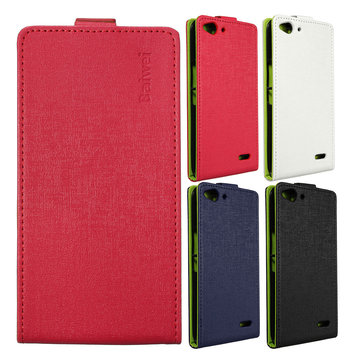 Magnetic Synthetic Leather Case Cover Skin For Vodafone Smart Ultra 6 VF995N
