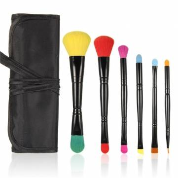 MSQ Portable 6pcs Dual-head Colorful Makeup Comestic Brushes Set Kit
