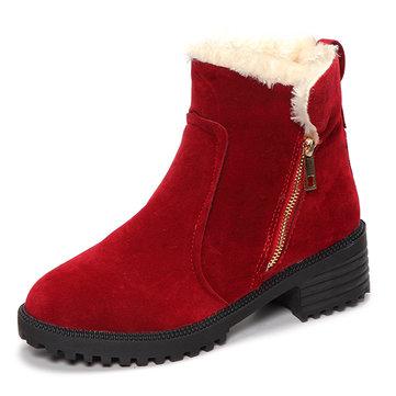 Женское Зимняя снежная ботинка Keep Warm Comfortable На открытом воздухе Случайная лодыжка короткая Ботинки