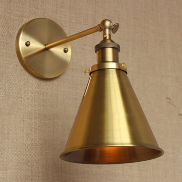 Vintage Iron American Style Bronze E27 Wall Light for Bar Restaurant Cafe Bedroom