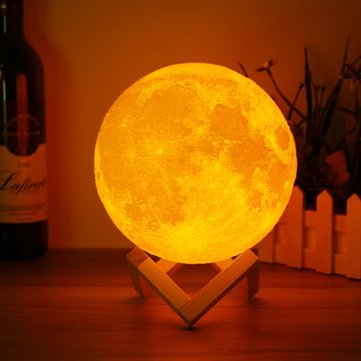 15cm Magical Two Tone Moon Lamp USB Rechargeable Luna LED Night Light Touch Sensor Gift