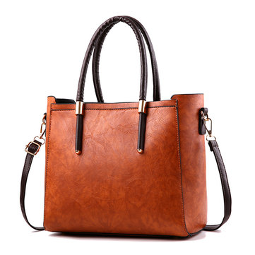 Retro Women Messenger Bag Large Capacity PU Leather Ladies Handbag