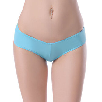 Plus Size Sexy Low Waist Hips Up Panties Pure Color Breathable Underwear For Women