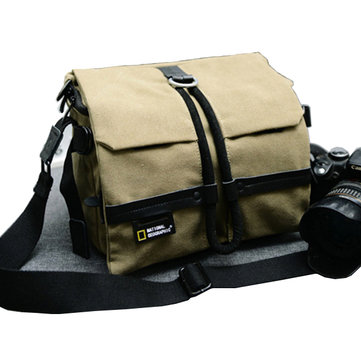 Men Women Canvas Leisure Travel Camera Bag Crossbody Bag Large Capacity Weekender Bag