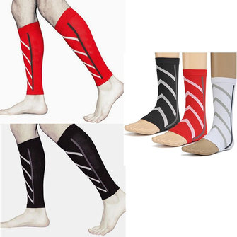 Unisex Running Sports Leg Sleeve Socks Leg Brace Calf Support Compression Exercise Socks