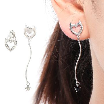 Sweet Asymmetric Ear Drop Earrings
