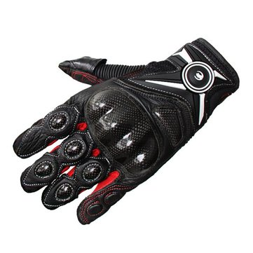 Leather Touch Screen Gloves Skidproof Full Finger For Biking Racing Cycling