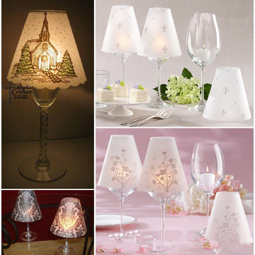 Wine Glass Lampshade Lamp Cover Wedding Table Decoration