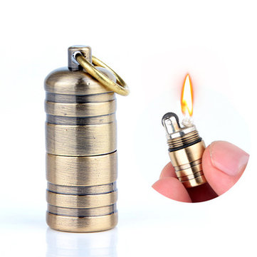 DOLPHIN HY630 Metal Portable Mini Kerosene Lighter Keychain Outdoor EDC Grinding Wheel Oil Lighter