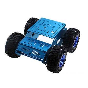 DIY 4WD Aluminous Smart RC Robot Car Chassis For STM32 Raspberry Arduino