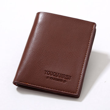 Large Capacity Men Pu Leather Short Wallet Credit Card Holder