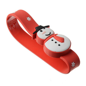 16G USB2.0 Christmas Snowman Wristband Shape USB Flash Drive