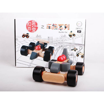 Umu Buckle Car Wooden Toys For Kids Jigsaw Educational Toy Puzzles Brain Teaser Puzzle Model