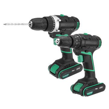 AC100-240V Li-ion Cordless Electric Screwdriver Power Drills 1 Battery 1 Charger With Accessories