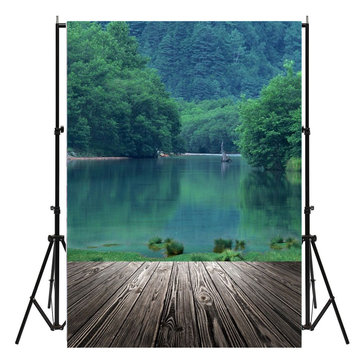 150x210cm Lake Wooden Floor Photography Background Studio Photo Prop Backdrop Decoration