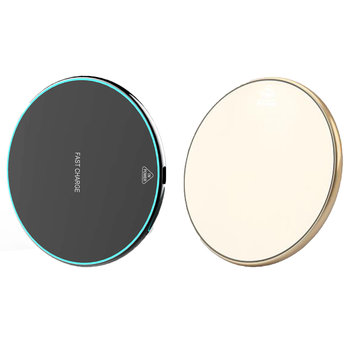 10W Qi Wireless Fast Charging Charger Pad with LED Light for Samsung S8 S9 Note 8 for iPhone 8