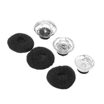Sostituzione SML auricolari in schiuma nera auricolari per Auricolare cuffie Voyager LEGEND