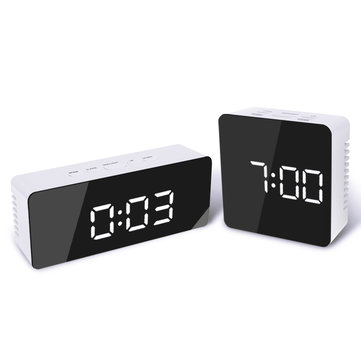[2019 Third Digoo Carnival] Digoo DG-DM1 Wireless USB Mirror LED Digital Therometer Temperature Night Mode Black Alarm Clock