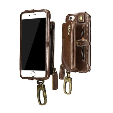 PCOL Leather Zipper Wallet Case For iPhone 6 Plus & 6s Plus