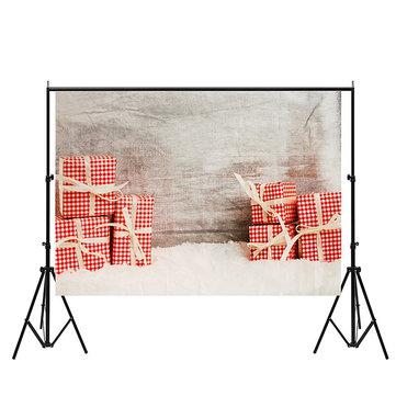 7x5ft Vinyl Christmas Wood Present Gift Photography Backdrop Photo Studio Props Background