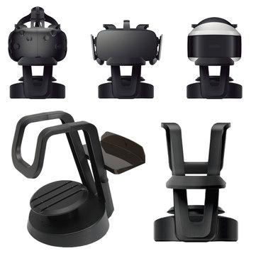 Universal VR Headset Stand Monut Holder Organisateur de stockage pour VR Glasses VIVE Oculus Rift CV1 DK2