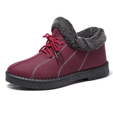 Winter Women Keep Warm Fur Lining Casual Comfortable Cotton Boots