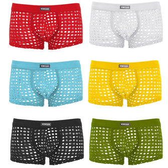 Sexy Mens Transparent Underwear Mens Breathable Casual Boxer Briefs