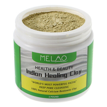 Melao Natural Indian Healing Clay Facial Mask Powder