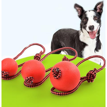 Rubber Dog Cat Chew Training Ball Toys Tooth Cleaning Chew Ball Puppy Pet Play Training Pet Toys