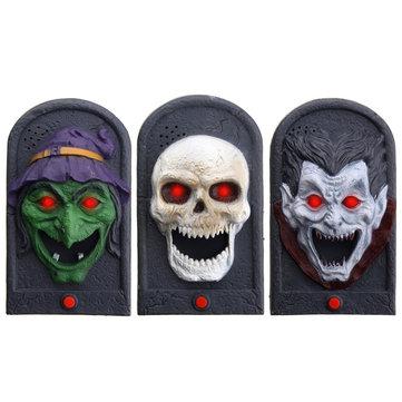 Halloween Party Home Decoration Illuminated Terror Skeleton Vampire Doorbell Horrid Scare Scene Toy