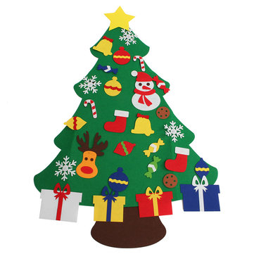 Wall Hanging Christmas Tree Set Ornaments Decoration