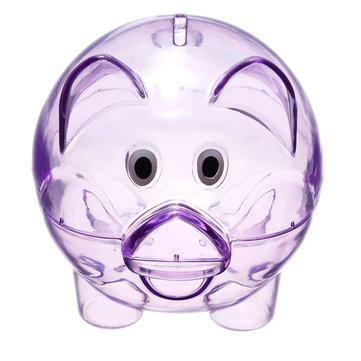 Children Kids Baby Portable Cute Plastic Pig Clear Piggy Bank Coins Box Storage Box Money Saving Case Toy Gift