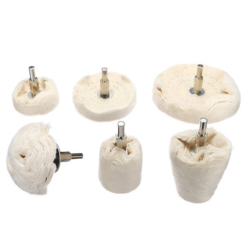 6Pcs Polishing Buffing Pad Mop Wheel Drill Kit Polishing Wheel Cloth Cotton Polishing Mops