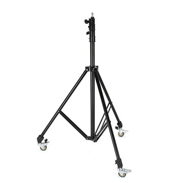Meking Universal Ajustable Anti-Shake Anti-Skid Light Stand Trolley Wheel with Brake Lock