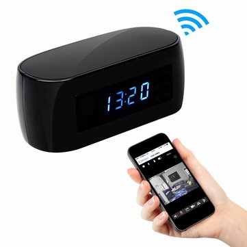 HZ16 1080P Night Vision Clock Hidden Camera Wireless Remote Network Electronic Clock Camera