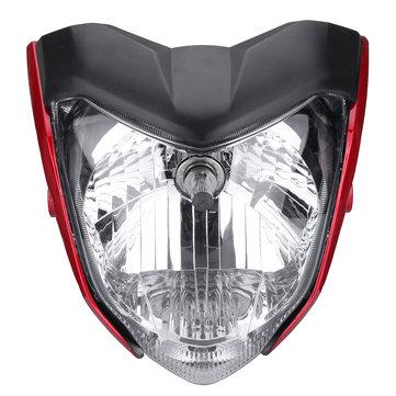 Motorcycle Headlight Assembly Headlamp Light House Red For Yamaha FZ16 YS150 FZER150