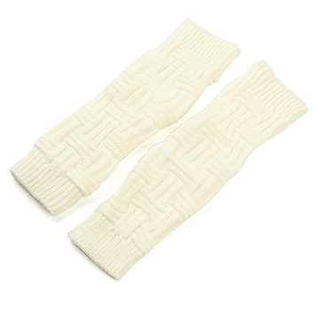 Women Female Crochet Twist Knitting Fingerless Long Arm Warmer Gloves