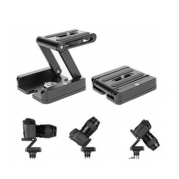 Aluminum Folding Z Pan Release Plate Stand Holder Tripod Flex Tilt Ball Head