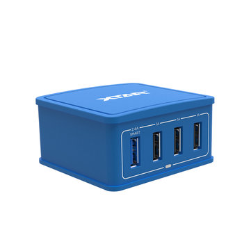 Xtar 4U 27W 4Ports Output USB Charger Rapid Smart Energy-Saving Portable Mini Charger EU Plug