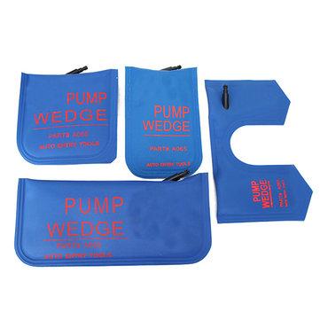 4pcs Pump Wedge Air Wedge Auto Locksmith Tool S/M/L/U Lock Pick Set Air Bag Lock Pick Tools