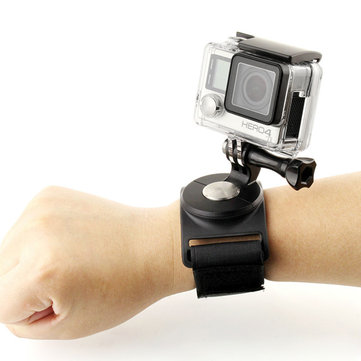 SHOOT 3 in 1 360 Degree Rotary Glove Wrist Leg Strap Mount for Gopro SJCAM Xiaomi Yi Sports Camera