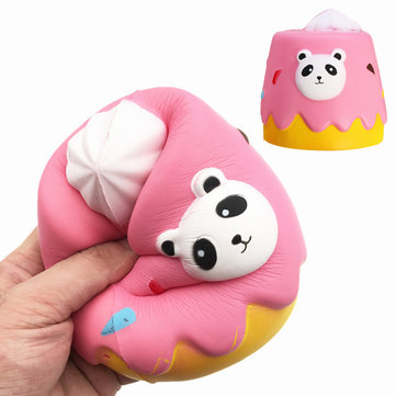 Squishy Chocolate Panda Cake Jumbo 12.5cm Slow Rising Soft Collection Gift Decor Toy