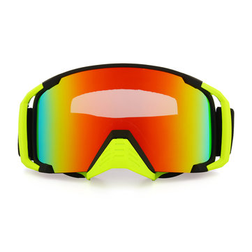 Motorcycle Racing Anti Fog Goggles Dual Lens Outdooors Snowboard Ski Matte Black Frame
