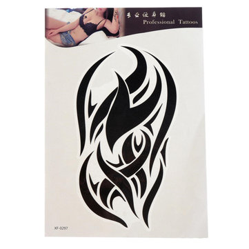 Black Totem Tattoo Stickers Waterproof Temporary Tattoos Body Arm Leg Art Sticker