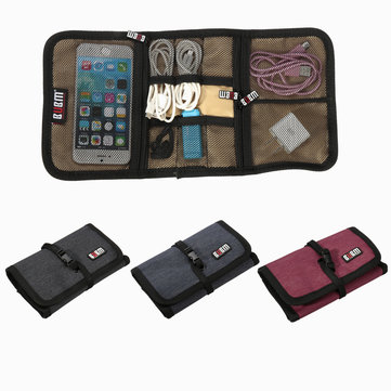 BUBM Spring Rolls Folding Carry Case S Size Three Colors For Digital Storage Bag
