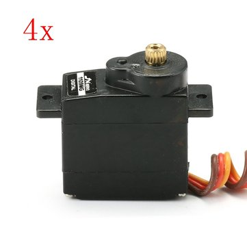 4PCS JX PDI-1109MG 9g Metal Gear Core Motor Micro Digital Servo for RC Models