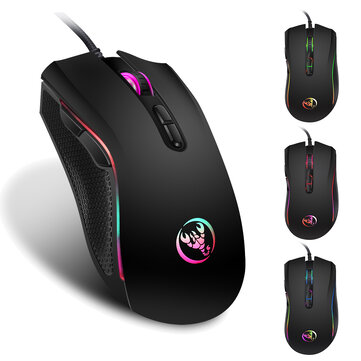 HXSJ A869 3200DPI 7 Buttons Mice 7 Colors LED Optical USB Wired Mouse Optical Gaming Mouse
