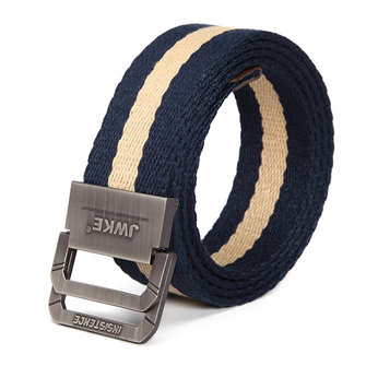Buy 130CM Mens Canvas Double Loop Belt Outdoor Climbing Simple Military Tactical Nylon Belts for $8.88 in Banggood store