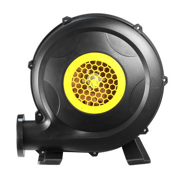 220V 370W Plastic Black Inflatable Screen Air Blower Pump EU Plug