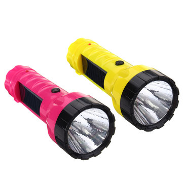 Universal Solar Outdoor Rechargeable LED Flashlight Camping Light Hikng Torch